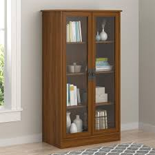 antique oak bookcase with glass doors amazon com altra quinton point bookcase with glass doors inspire