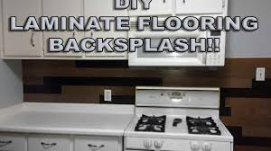 diy laminate flooring backsplash youtube