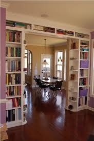 use bookshelves to provide functional stylish separation between