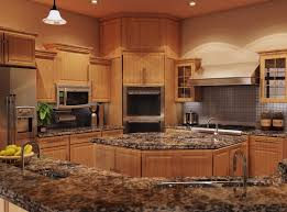 granite kitchen countertops with maple cabinets single handle
