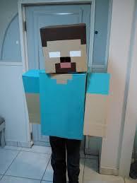 Halloween Minecraft Costume Minecraft Costume Herobrine Boxes Paint