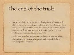 Powerpoint Salem Witch Trials