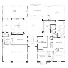 ranch floor plans with large kitchen images about small house