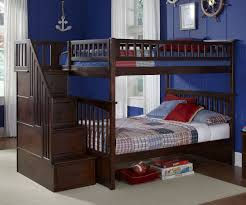 Navy Blue Wall Bedroom Bedroom Wooden Bunk Beds With Stairs Plus Drawers And Navy Blue