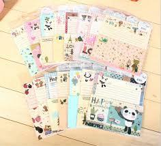 Online Shop Cute Cartoon Letter Paper Set   pcs letter papers