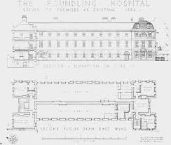 East Wing Floor Plan by Plate 16 Foundling Hospital East Wing Plan And Elevation