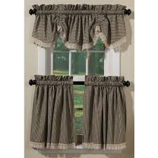 crochet check country style curtains collection sturbridge