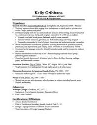 Resume Format For Teachers Job by High Student Resume With No Work Experience Resume Examples