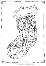 christmas stocking coloring pages coloring print 12187