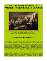Review of the Separation of Powers Section of the Federalist