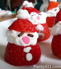 christmas in july strawberry santa dessert daily party dish