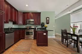 appealing dark cherry kitchen cabinets wall color best paint