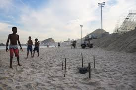 body parts wash up at olympic volleyball venue in rio de janeiro