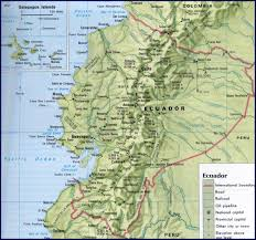 Physical Map Of South America by Map Of Ecuador South America