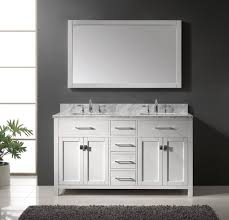 60 double sink bathroom vanity black granite countertop lacquered