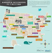 Map Of America With States by A Map Of America With States Named By Twitter Designtaxi Com