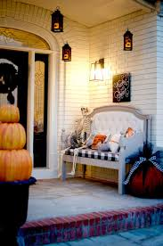 halloween room rolls styling a fire themed halloween porch with a dragon yard inflatable