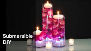 Purple Floating Candles For Centerpieces by Floating Candle Centerpiece Diy Wedding Centerpiece Youtube