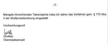 Roswitha Müller-Piepenkötter wegen Mordes unter Druck. - einstellung-strafanzeige-seite-02