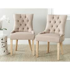 Safavieh Dining Room Chairs by Safavieh Abby Taupe Linen Side Chair Set Of 2 Mcr4701j Set2
