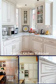 fashionable design ideas painting kitchen cabinets white before