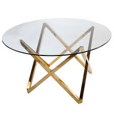 mid century modern galvin dining table gold