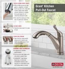 delta grant single handle pull out sprayer kitchen faucet in home depot delta faucet pull out kitchen infographic