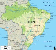 Political Map Of South America Physical And Political Map Of Brazil You Can See A Map Of Many