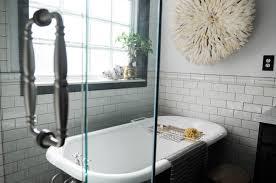 bathroom small bathroom design with cozy clawfoot tub