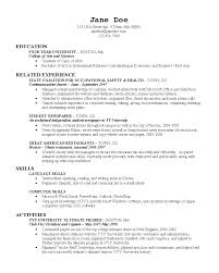 Examples Of Nursing Resumes For New Graduates 2017 Resume For New College Graduate Sample Resume Objective For