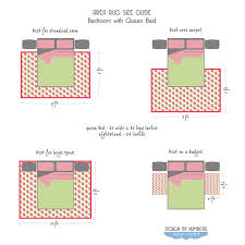 Rug Sizes For Living Room Area Rug Size Guide Queen Bed By Design Wotcha Http