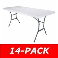 lifetime 5011 white 5 u0027 fold in half table 14 pack on sale u0026 ships free