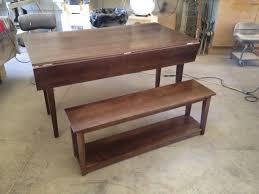 maple dining table u0026 bench u2013 compass carpentry