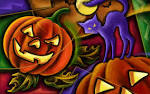 Wallpapers Backgrounds - 51 Halloween illustration Wallpaper Black cat Jack lanterns (halloween illustration wallpaper black cat jack lanterns holiday x 51 mi9 1920x1200)
