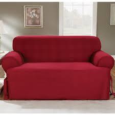 amazon com sure fit duck solid t cushion sofa slipcover
