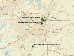 Raleigh Map Phlebotomy Training In Raleigh Nc Phlebotomy Training Spot