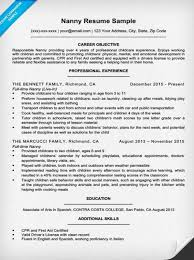 Resume For Nanny Job by Nanny Cover Letter Sample U0026 Writing Tips Resume Companion