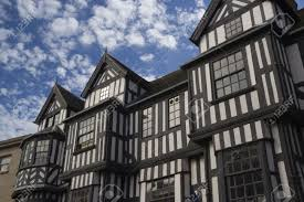 Tudor Style by A Tudor Style Building In Shrewsbury England Stock Photo Picture