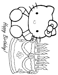 hello kitty birthday coloring pages fablesfromthefriends com