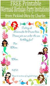 Printable Invitation Card Stock Best 25 Mermaid Party Invitations Ideas On Pinterest Little