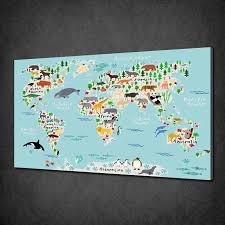 World Map Canvas by World Map Canvas Wall Art Picture Print