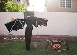 Halloween Minecraft Costume Lady Goats Enderdragon Costume