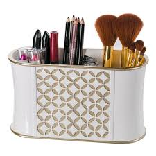 amazon com diamond lattice makeup brush holder sink cabinet