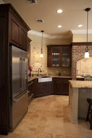 Kitchen Floor Tile Ideas With White Cabinets Kitchen Flooring Ideas With Dark Cabinets With Design Image 30073