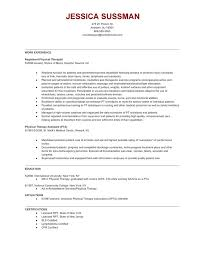 Physical Therapy Resume Sample by Respiratory Therapist Resume Examples Template Billybullock Us