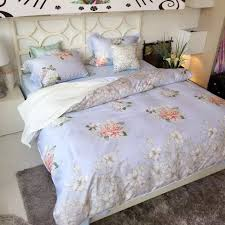2016 spring summer new rose bedding sets cotton satin flowers