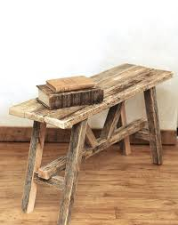 Wood Bench Plans Indoor by Best 25 Reclaimed Wood Benches Ideas On Pinterest Diy Wood