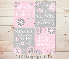 wall art pink gray baby room art baby decor you are