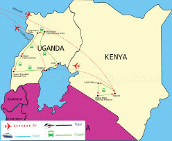 Map Of Kenya Africa by Best Of Kenya And Uganda Safari