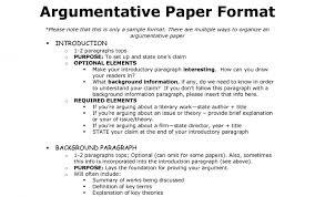 TEEL Essay structure